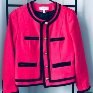 J.Crew Wool Blazer with Piping